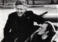 Андреев запечатлен с Кучеренко на Киевской трассе в 1979 году