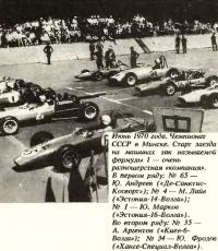 Чемпионат СССР в Минске, 1970г