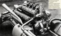 Двенадцатицилиндровый двухлитровый мотор с четырьмя распределительными валами