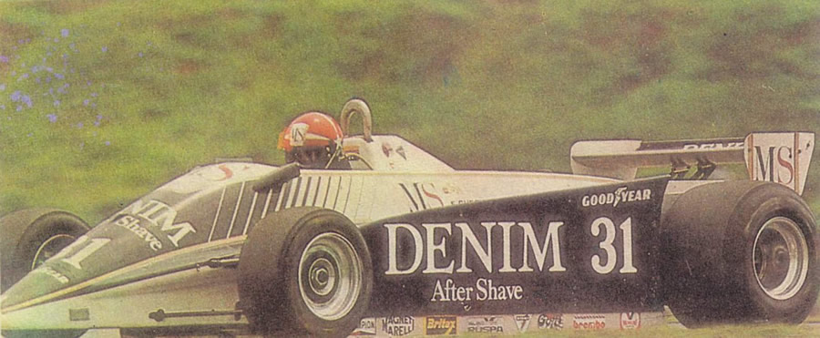 Эдди Чивер за рулем «Озеллы-FA1/1» в 1980 году