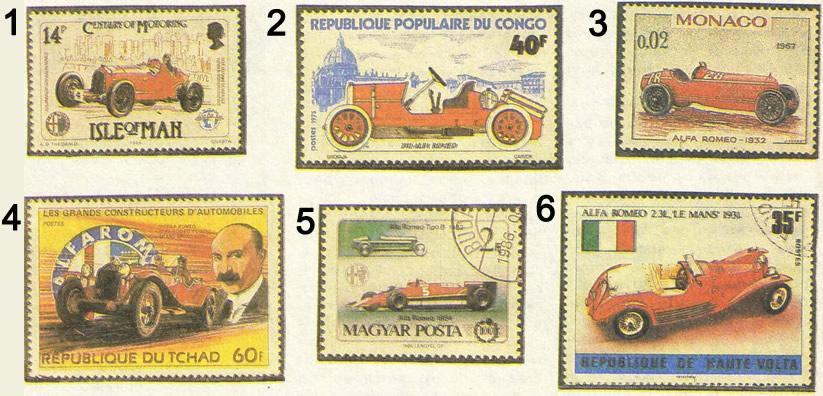 Коллекция марок «Альфа-Ромео»