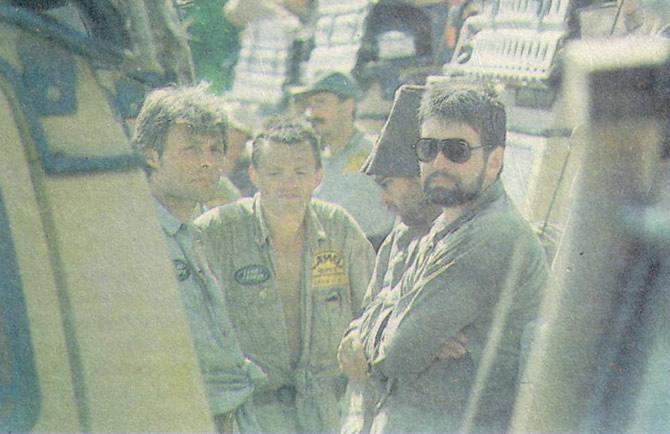 Команда СНГ (слева направо): менеджер А. Аксенов, Д. Леонидов, Ю. Овчинников, С. Трофименко