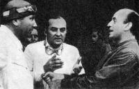 Манфред фон Браухич (слева), Герман Ланг (в центре) и Пауль Питч (справа)