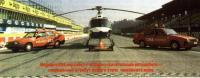 Медицинский вертолёт и авто
