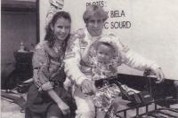 Михаэла и Франк Биела с дочерью Изабелль
