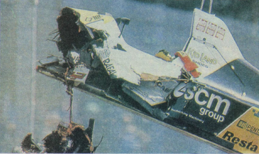 Минарди итальянца П. Мартини после аварии