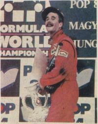 Н. Мэнселл после победы на этапе в Венгрии