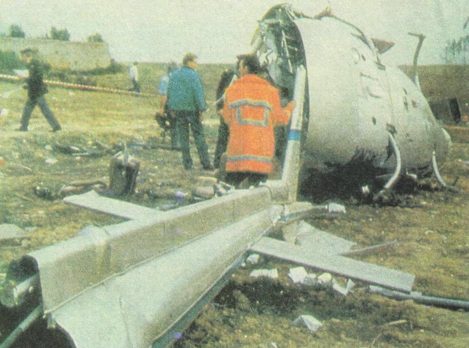 Обломки вертолета Алессандро Наннини