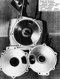 Общий вид двигателя со снятыми цилиндром