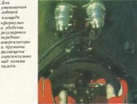 Передние амортизаторы и пружины размещены над ногами пилота