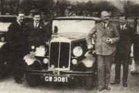 Полковник А. X. Лабара первый победитель английского ралли