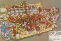 Появившийся в 1947 году 16-цилиндровый V-образный BRM