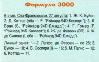 Результаты Формулы-3000 ()6 этап