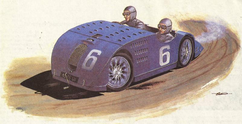 Рисунок «Бугатти Тип 32»