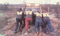 Спасение машины из грязи