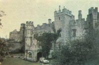 Средневековый замок в центре парка