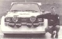 Вальтер Рерль с подаренной «Sport Quattro S1»