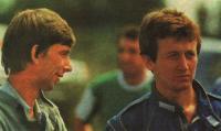 Ведущие гонщики спортивно-гоночных автомобилей Сергей Кузмичев (слева) и Ренас Мухамедзянов