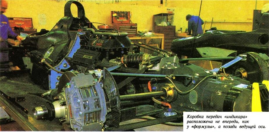 Задняя компоновка коробки передач